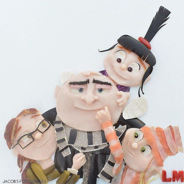 Gru, Margo, Edith e Agnes de Despicable Me 3