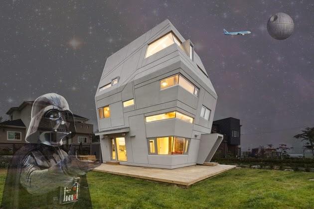 didesain oleh Moon Hoon mempunyai wangsit yang sangat mungkin sudah Anda ketahui Rumah Un Rumah Unik Terinspirasi Film Star Wars