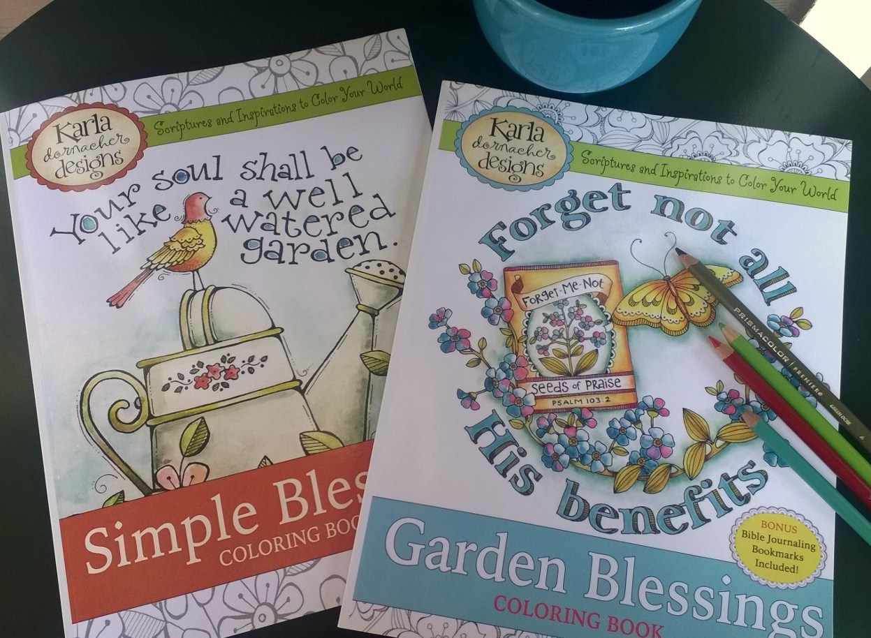 Simple Blessings Garden Coloring Books By Karla Dornacher
