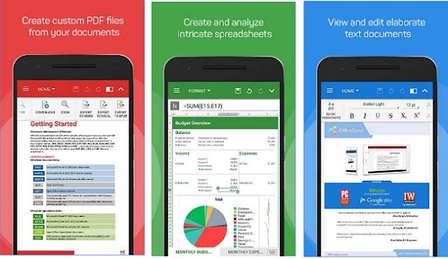 أفضل تطبيق لعرض وتعديل وإنشاء ملفات الاوفيس للاندرويد والايفون OfficeSuite + PDF Editor