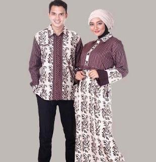 Gaya model baju batik couple lengan panjang remaja muda