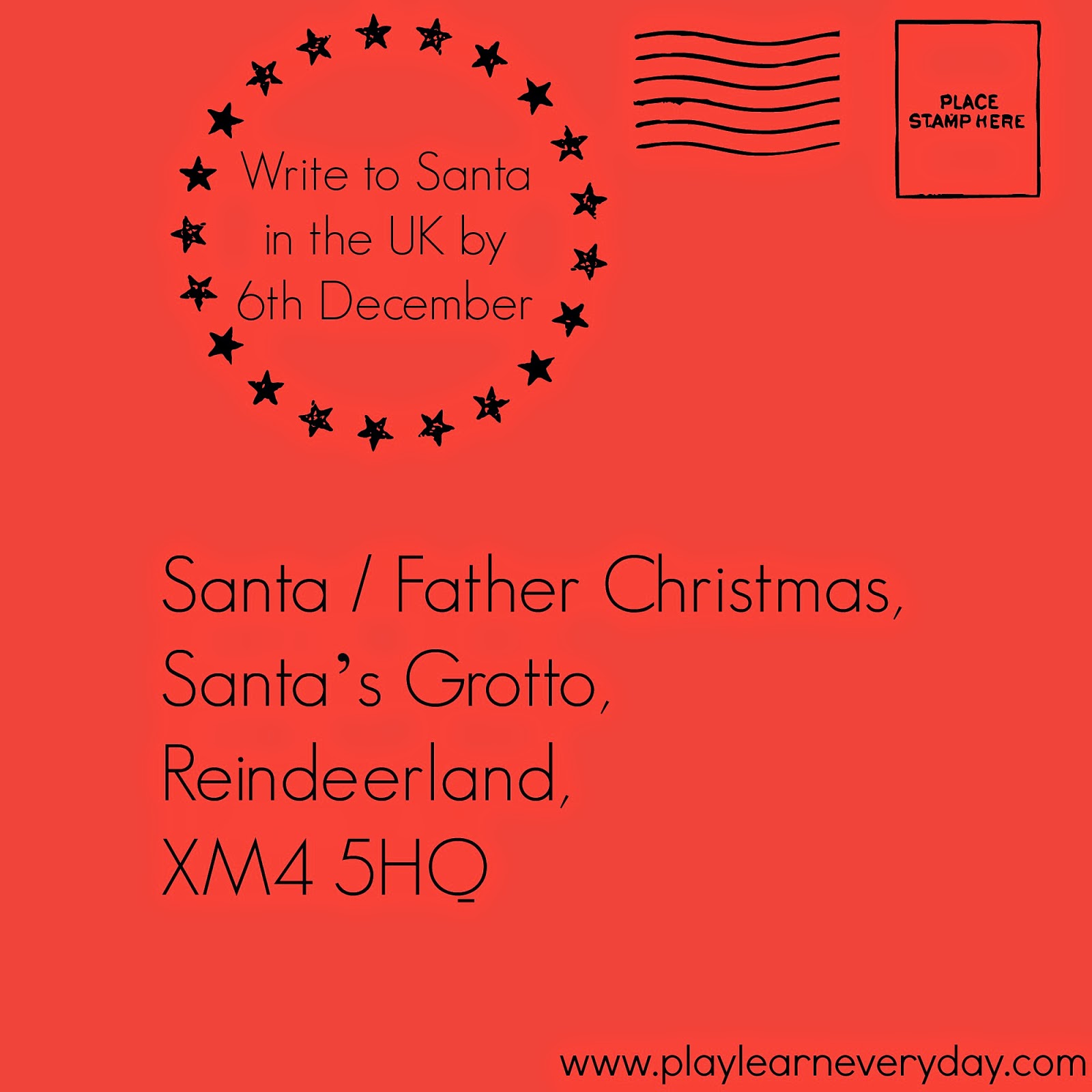 Writing a Letter to Santa - Play and Learn Every Day