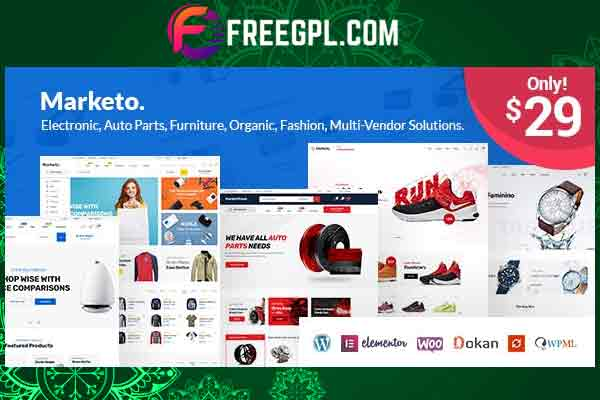 Marketo– eCommerce & Multivendor Marketplace WooCommerce Theme Free Download