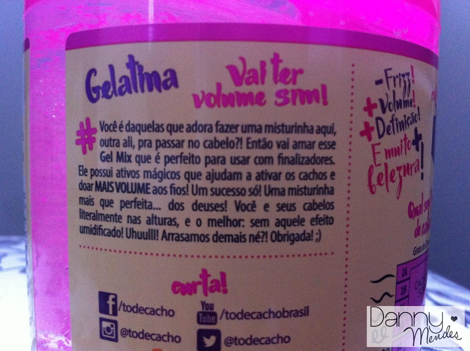 51ca80bcad Resenha  Gelatina Vai Ter Volume Sim Salon Line - To de Cacho - Uma ...