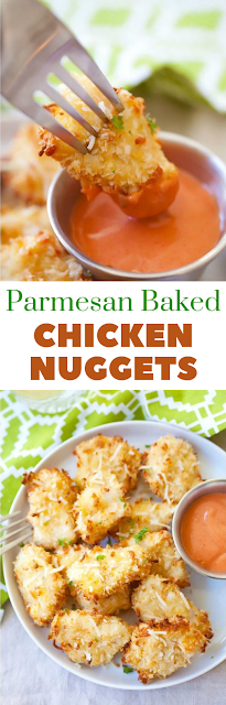 Baked Chicken Nuggets #KetoDishes #Ketogenic