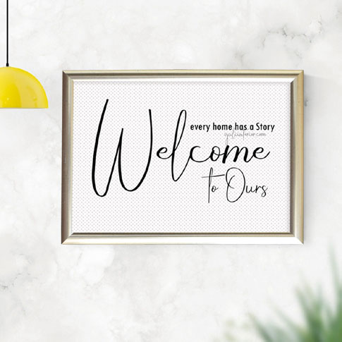 Welcome,Family Story Wall Frame, Framed Print in Port Harcourt, Nigeria
