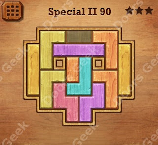 Cheats, Solutions, Walkthrough for Wood Block Puzzle Special II Level 90