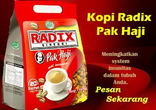 Kopi herbal kuat pria radix sinergis pak haji HPA stamina herbal tradisional