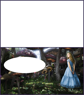 Alice in Wonderland Tim Burton Style Free Printable Invitations, Labels or Cards.