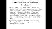 Modernitas dan Postmodernitas