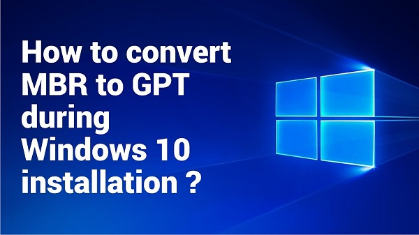 تحويل القرص من mbr الى gpt اثناء تنصيب Windows 10