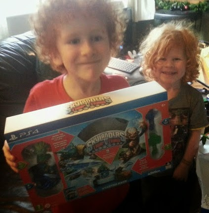 Happy with Skylanders Trap Team present