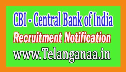 CBI (Central Bank of India) Recruitment Notification 2017