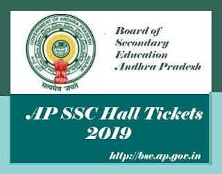 AP SSC Hall ticket 2019, AP 10th Class Hall ticket 2019, AP 10th Hall ticket 2019