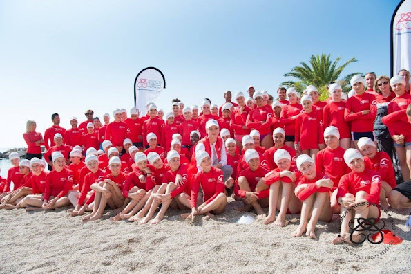 Princess Charlene of Monaco took part in a Water Safety Day organised by her Foundation, the Centre de Sauvetage Aquatique de Monaco