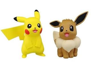 Eevee & Pikachu figures set Takara Tomy MONCOLLE EX ESP_10