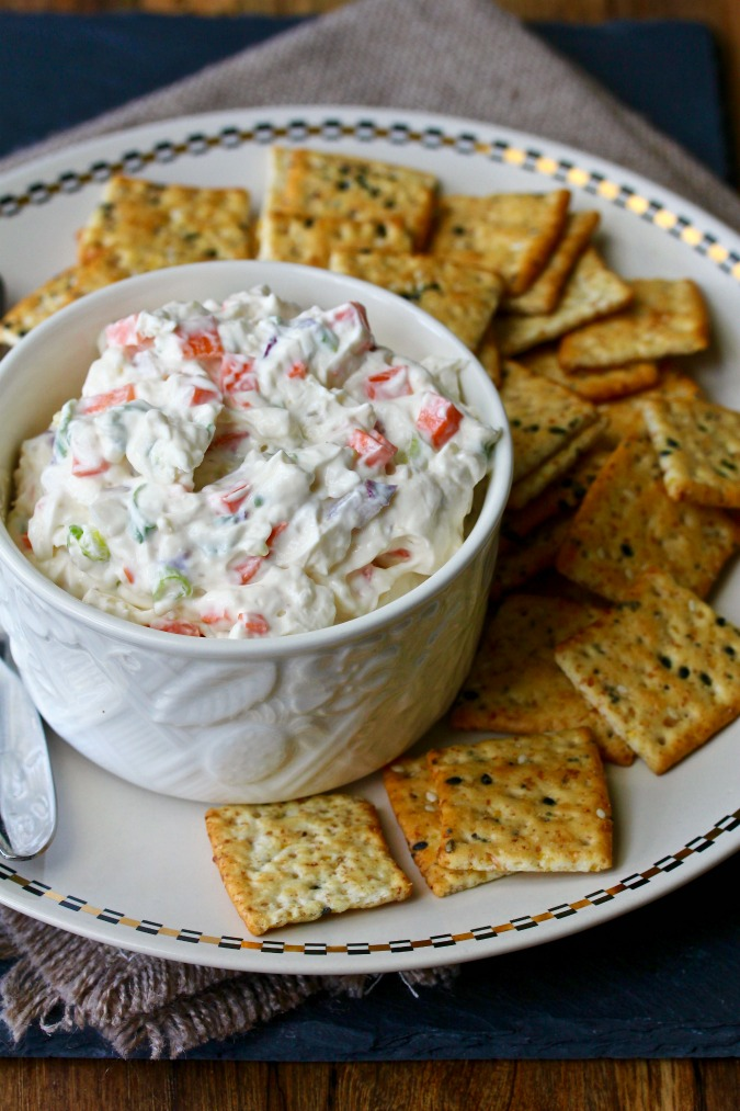 Garlic and Vegetable Cheese Spread