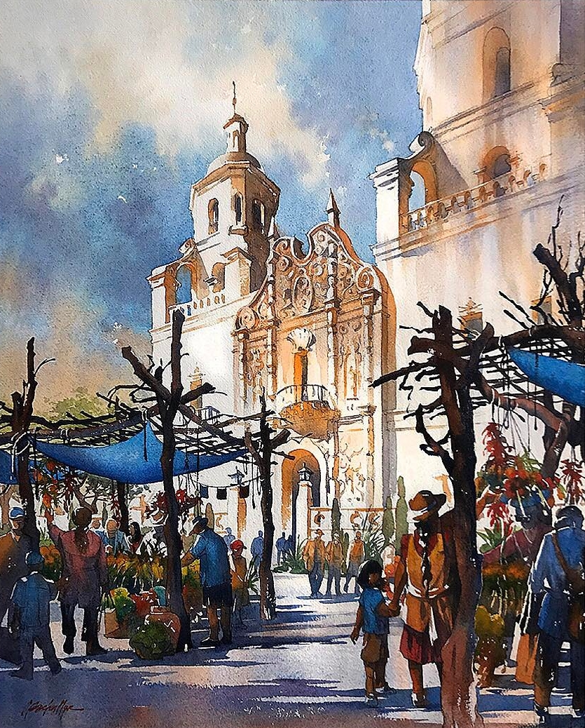 06-Mission-Market-Arizona-US-Thomas-Schaller-Watercolor-Paintings-Indoors-and-Outdoors-www-designstack-co