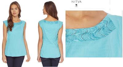 camiseta turquesa nitya