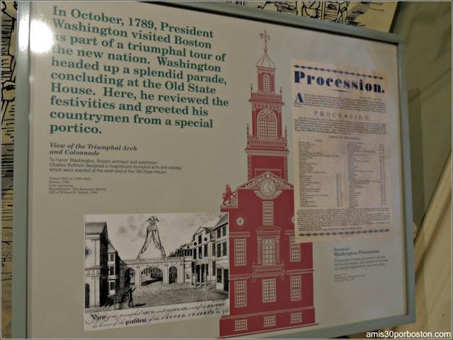Exhibición del Desfile de George Washington por Boston