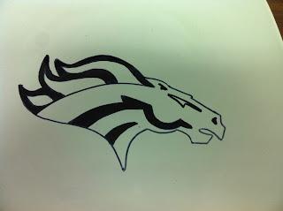 Denver Bronco Logo Decorative Plate DIY