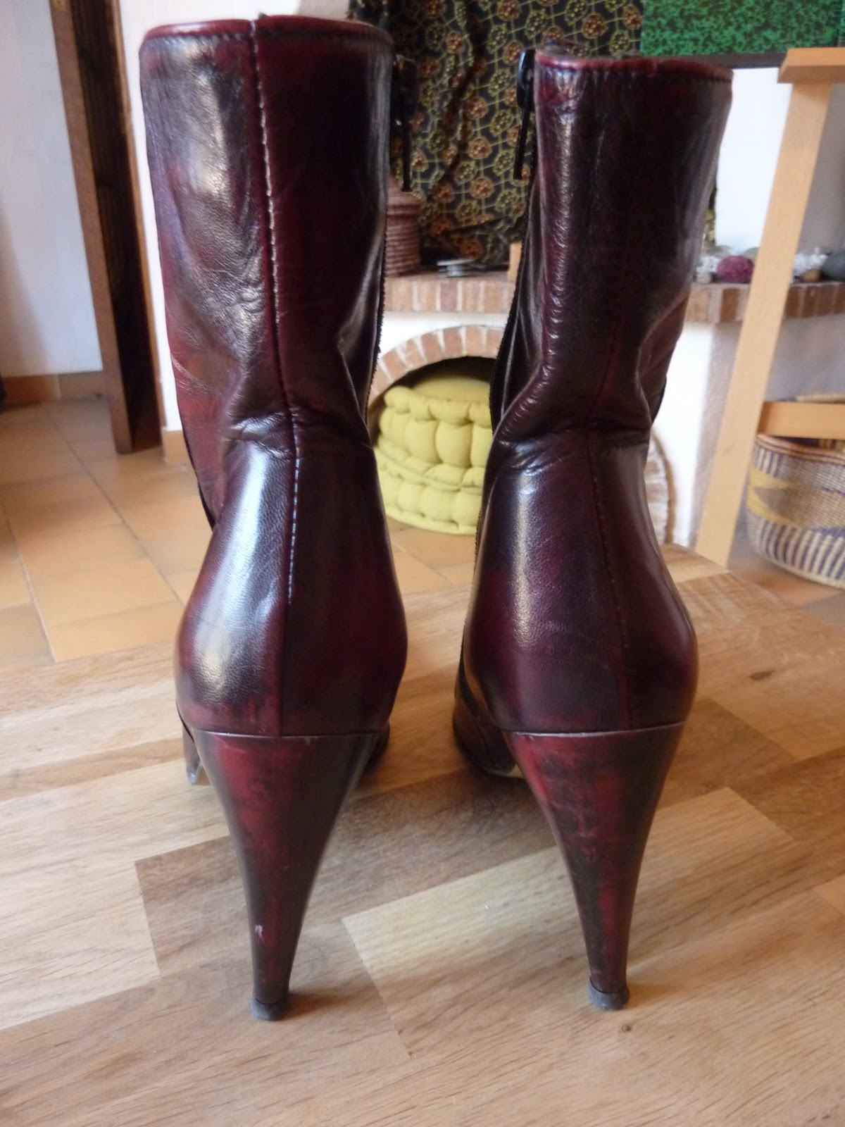 mamzelle vide son dressing bottines too much bordeaux cuir pointure 37 prix printemps 32 euros. Black Bedroom Furniture Sets. Home Design Ideas