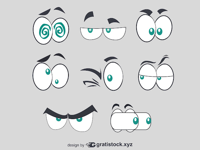 Free Download PNG Of Comic Style Eyes Set