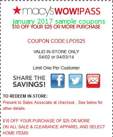 Macy's online coupon code november 2018