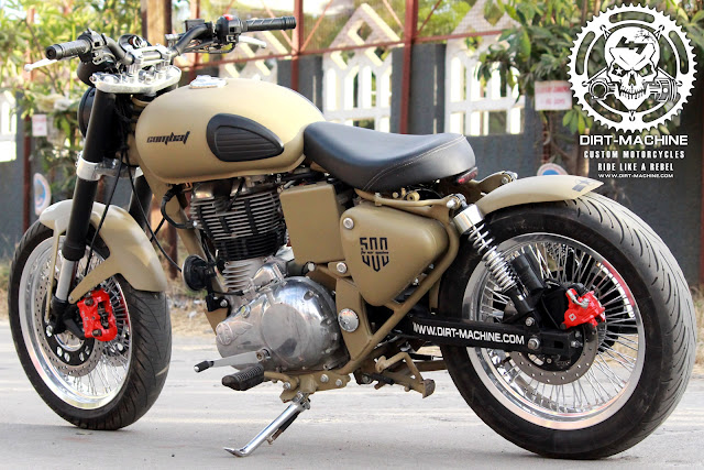 royal enfield desert storm modified