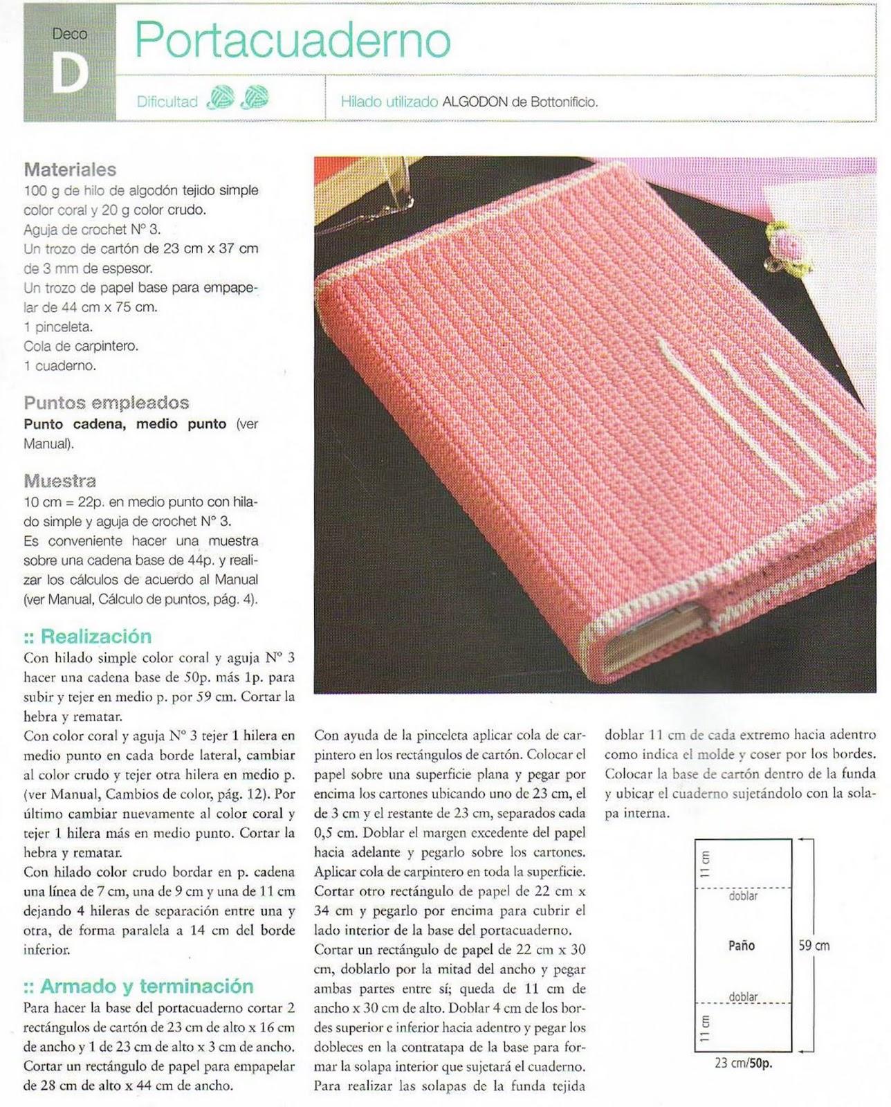 Patron Crochet Tapas Cuaderno