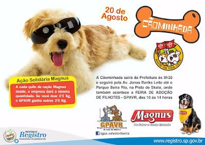 III Cãominhada do GPA no domingo 20/08 contará com a campanha Magnus em dobro