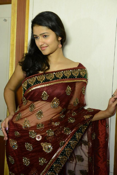 Kousalya hot photoshoot in transparent saree