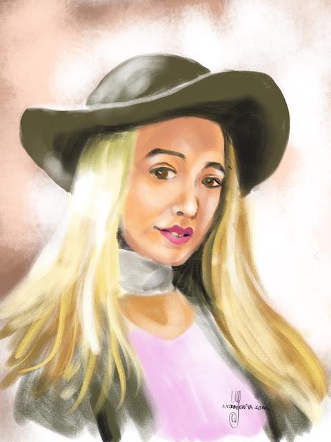 Portrait sketch by Artmagenta