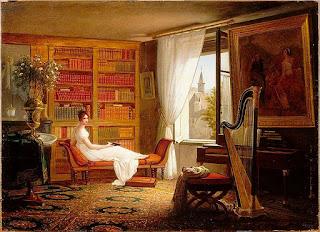 François-Louis Dejuinne (1786-1844) - Le salon de Mme Récamier à l'Abbaye-au-bois - 1826 - Paris, Louvre.