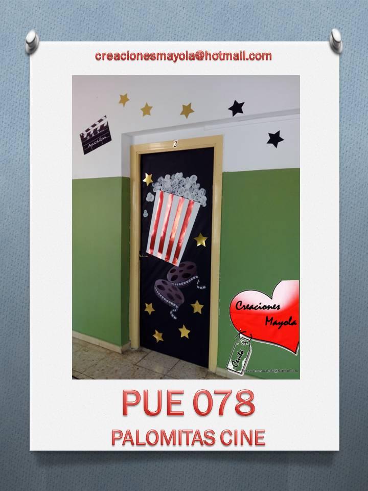 Creaciones mayola puertas escolares palomitas cine for Decoracion de puertas escolares