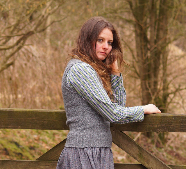 wearing grey in the countryside
