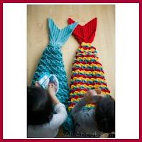 Colas de sirena a crochet