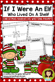 If I Were an Elf Who Lived on a Shelf - Christmas Narrative Writing Prompt - Students brainstorm a sequential story about what they would do if they were an elf who lived on a shelf using a graphic organizer and create a final copy that would make a great bulletin board display!