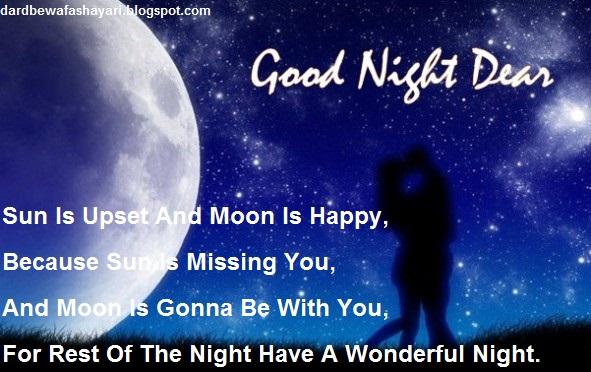 latest good night shayari in hindi dard bewafa shayari