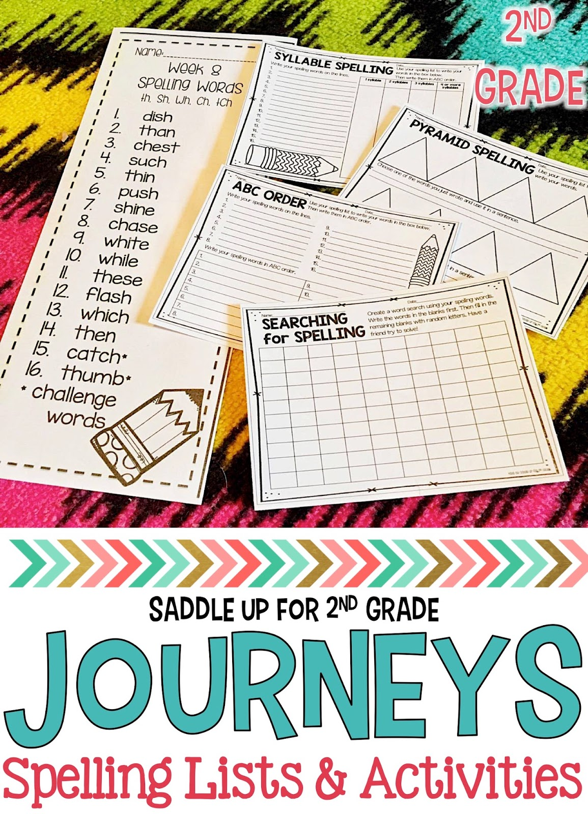 Journeys 2nd Grade Spelling Lists and Activities - Saddle up for ...