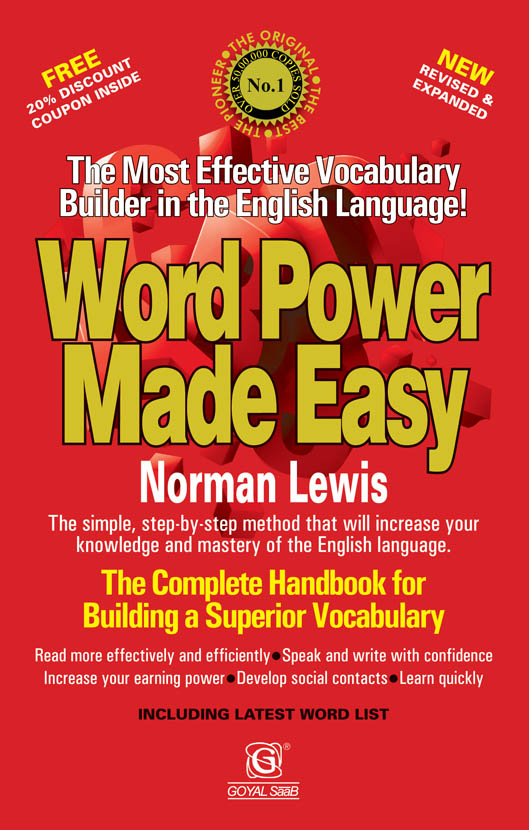 Word power made easy book by norman lewis