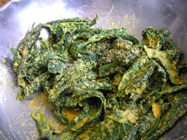 kale chips before dehydrating