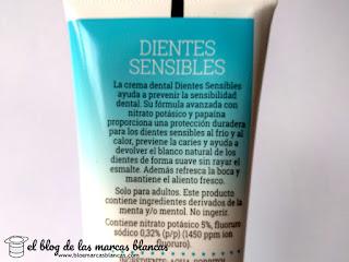 Pasta de dientes para dientes sensibles (tipo Sensodyne) de la marca Deliplus de Mercadona fabricada en Alcoy.