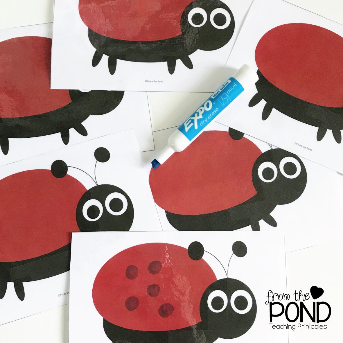 Ladybug Subtraction Game Monday Memory