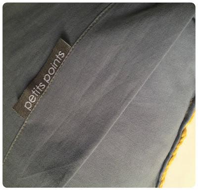 Coussin au crochet en Coton Drops Paris Oeko-Tex® et carrés granny,  moutarde, gris, écru,