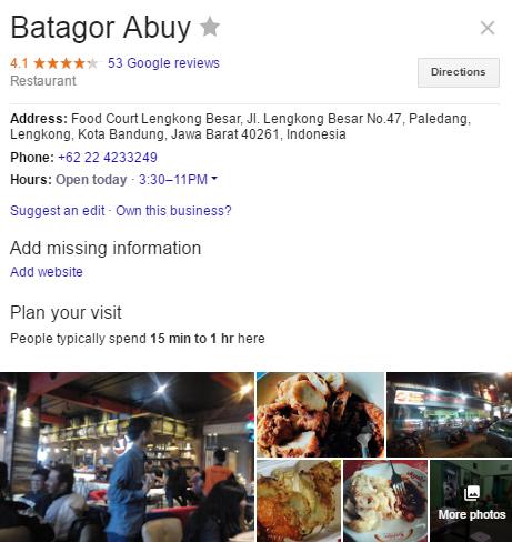 business plan batagor
