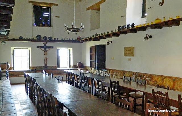 Refeitório do mosteiro colonial de Ecce Homo, Villa de Leyva, Colômbia