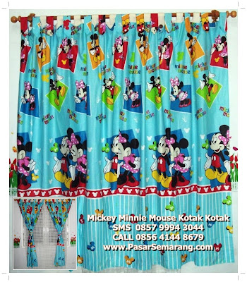 hordeng kelambu kamar anak mickey mouse movie
