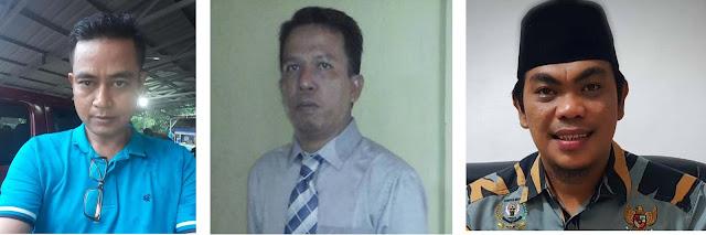 Dari Kiri ke Kanan: Ketua Gowa Sastriawan Guntur Zass, Pengacara Saiful Puad Tarigan, Ketua GM Pekat IB Asahan Kahirul Anhar Harahap