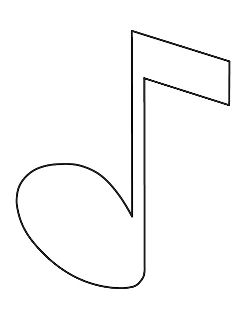 Нотка раскраски Musical note coloring pages